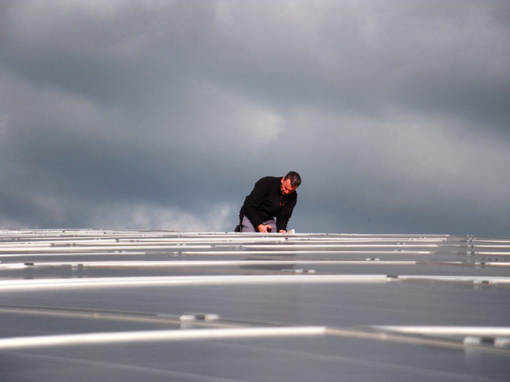 Prüfung einer Dachanlage in Baruth